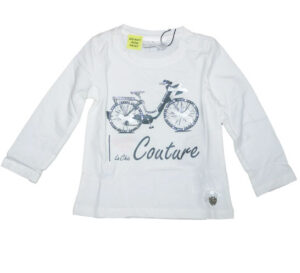 Le Chic Baby shirtje Bike roomwit