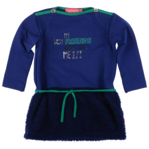 Kiezeltje Mini Dress Kobalt Blue Teddy