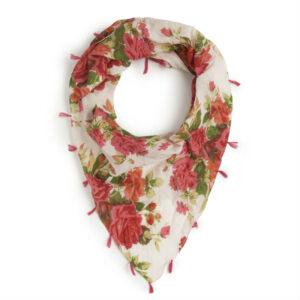 Nice Things Sjaal met bloem en kwastjes