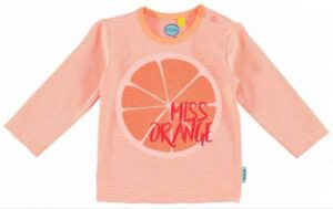 O'Chillie baby meisjes t-shirt Bente orange stripes