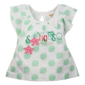 Dirkje Girls T-shirt little Seahorse mint