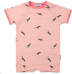 Kiezeltje Mini dress peach bird KM5566