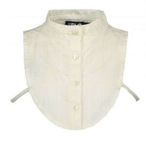 Flo girls woven collar with lace turtle neck F908-5001