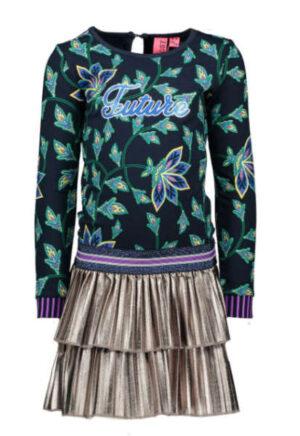 B.Nosy jurk with fake leather plissé skirt Y909-5840