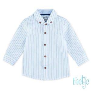 Feetje jongens overhemd streep blauw classic