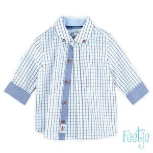 Feetje jongens overhemd ruit blauw classic