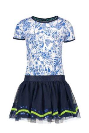 B.Nosy meisjes jurk Delfts blauw Y002-5833-135