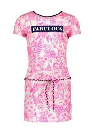 B.Nosy meisjesjurk Delfts pink Y002-5833-206