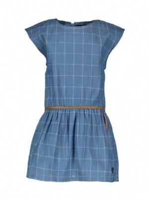 Like Flo baby meisjes jurk check denim F003-7852