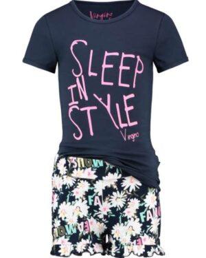 Vingino meisjes pyjama Wevalie dark blue