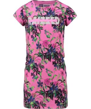 Raizzed meisjes jurk Malaga pink flower
