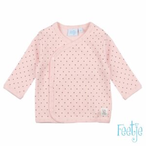 Feetje baby meisjes omslagshirt dots roze