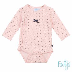 Feetje baby meisjes romper dots roze-antraciet