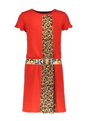 Like Flo meisjes jurk met plissé F004-5875