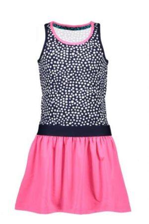 B.Nosy meisjes jurk met stippen top blauw Y005-5842